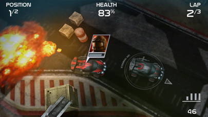Screenshot from Death Rally
