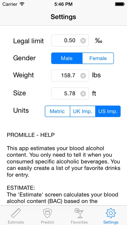 Promille - Blood Alcohol Tracker screenshot-0