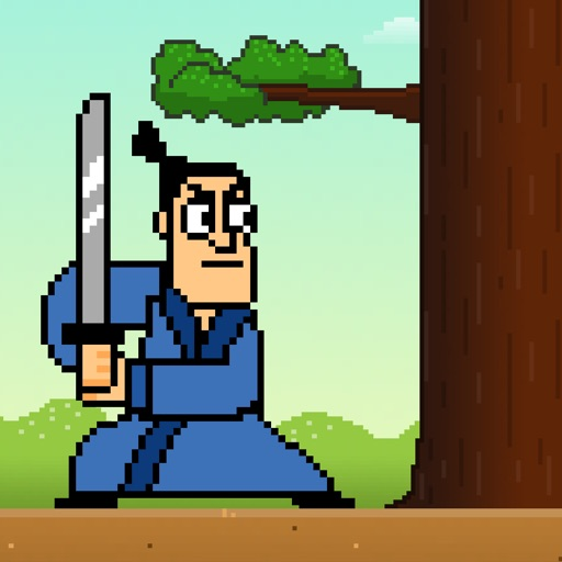 Samurai Timber Chop - Slice and Cut the Tree, Avoid the Falling Branches