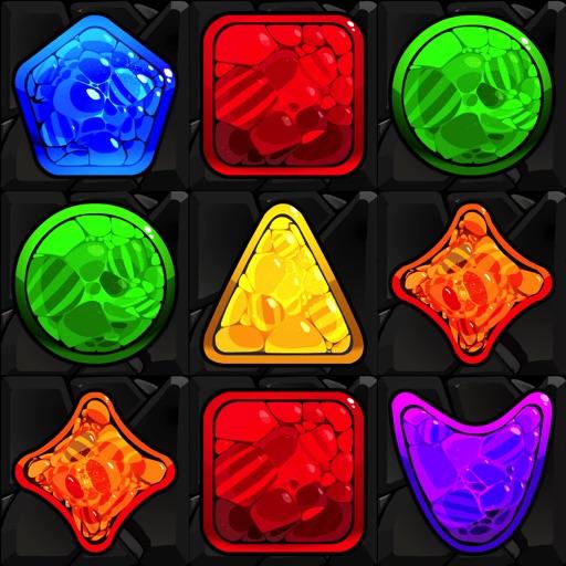 Shape Matcher 2 - Best Diamond Match-3 Scramble icon