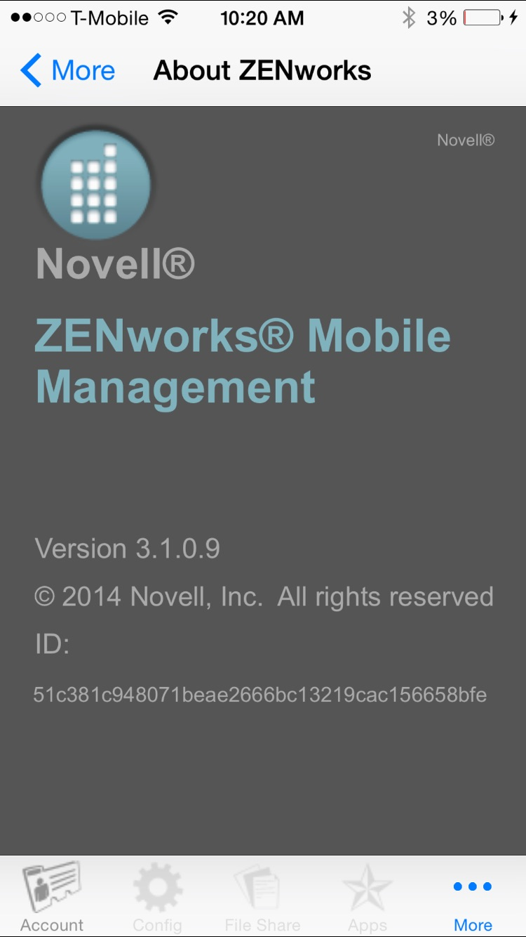 ZENworks Screenshot