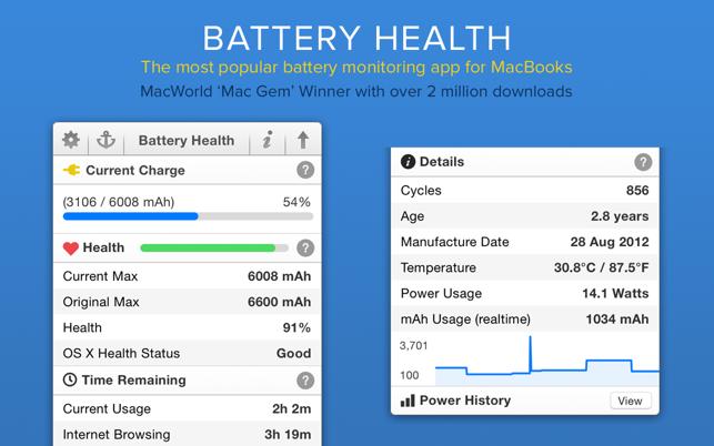 Battery Health - Monitor Stats Screenshot