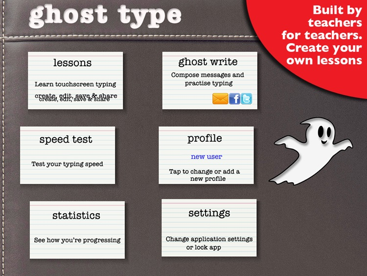 Ghost Type - a typing tutor to master your iPad typing skills screenshot-0