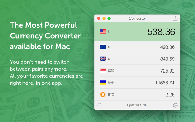 Coinverter – The Currency Converter Screenshot