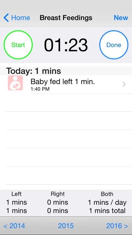 Baby Loggy - Breastfeeding, bottle feeding, diaper and growth tracker for newborn
