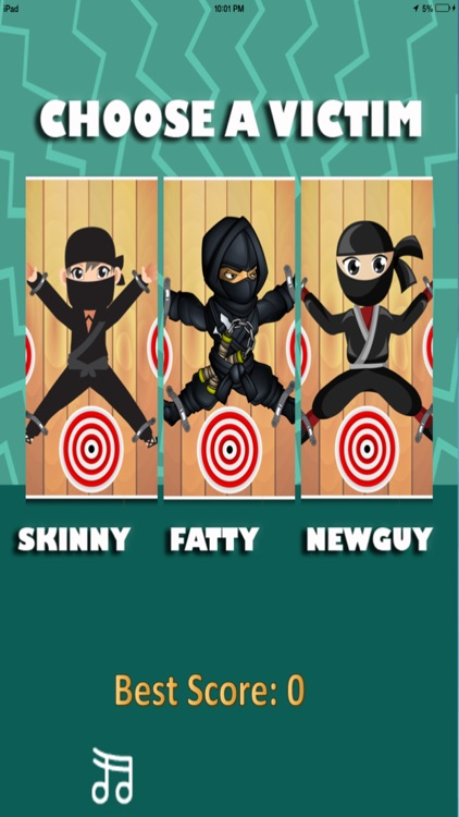 Darts Ninja - Be A Crazy Pro And Avoid The Clumsy Victim screenshot-0