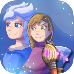 Scratch and paint the ice princesses: game for girls to paint and color
