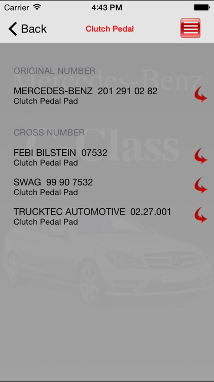 Autoparts Mercedes-Benz C-class screenshot-3