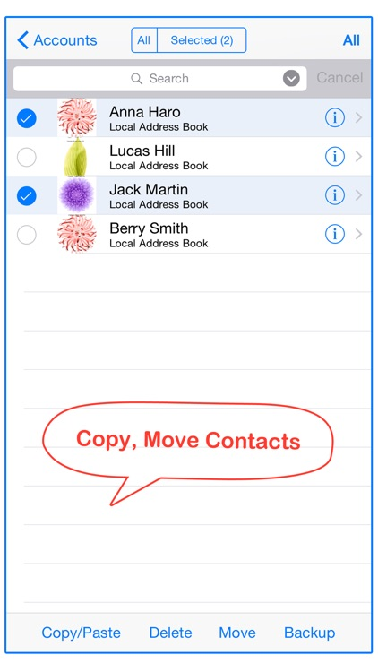 Move Contact: Contacts to Group