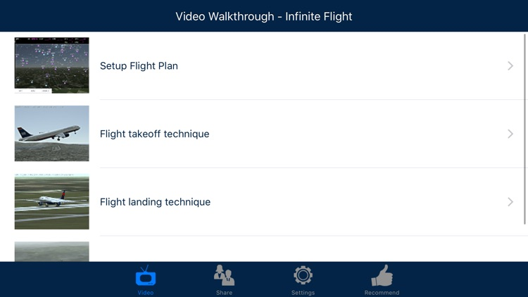 Video Walkthrough for Infinite Flight