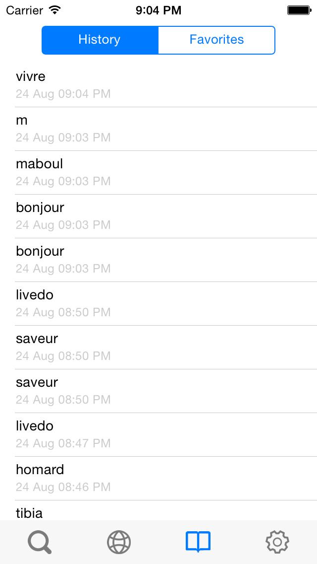 Từ điển Pháp Việt, Việt Pháp, Pháp Anh, Anh Pháp - French Vietnamese English Dictionary screenshot four