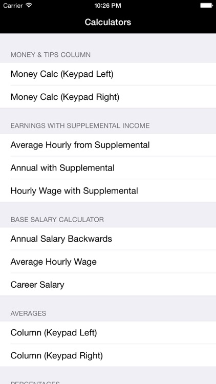 Salary, Income, Annual Income, Money Collection, Percentages, Averages, & Distances Calculators screenshot-1