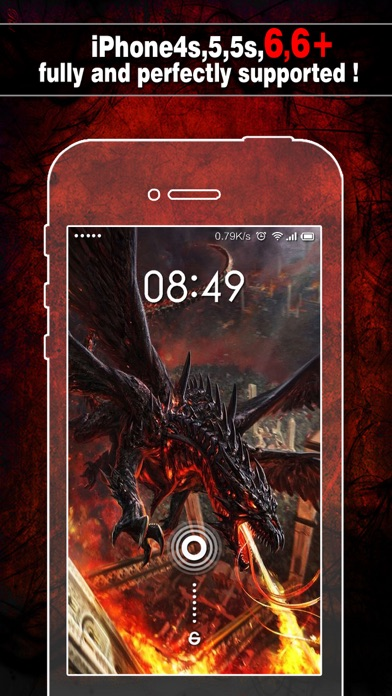 Dragon Wallpapers, Backgrounds & Themes - Home Screen Maker with Cool HD Dragon Pics for iOS 8 & iPhone 6のおすすめ画像1