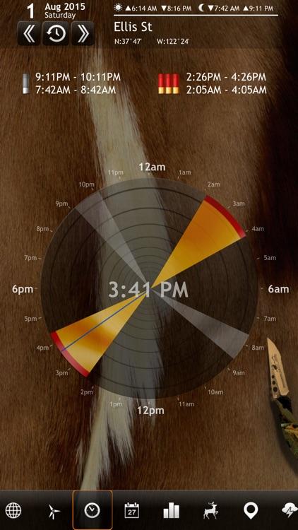 Solunar Calendar - Best Hunting Times and Feeding screenshot-0
