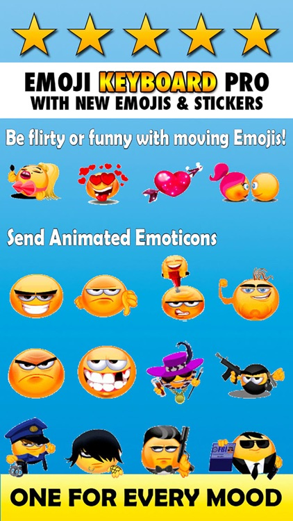 New Emoticon Keyboard - Extra Emojis for iOS 8 screenshot-3