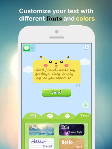 Fancy Message-Pimp Text with Emoji Keyboard, New Color Bubble and Textart FREE-ipad-4