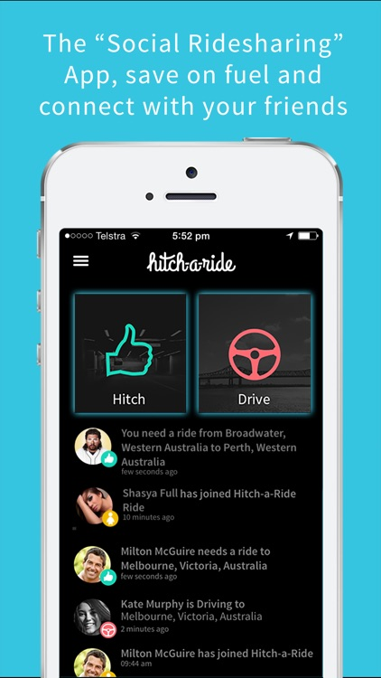 Hitch-A-Ride - Rideshare with Friends!