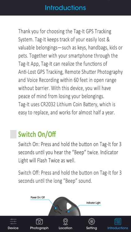 TAG IT - Tracking Device with Alarm screenshot-4