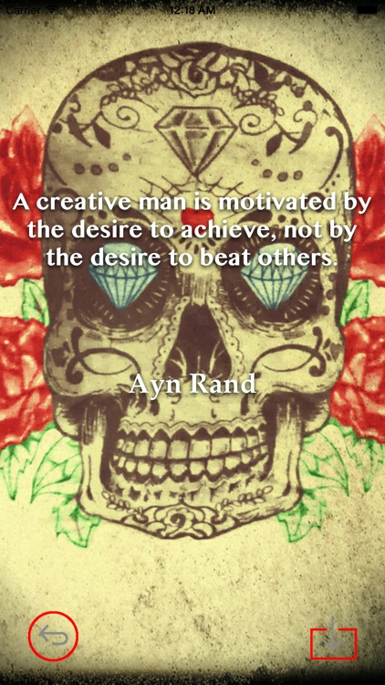 Skull Art Theme HD Wallpaper and Best Inspirational Quotes Backgrounds Creator screenshot-3