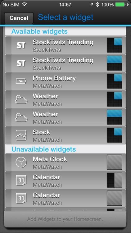 MetaWatch Manager for iOS screenshot-3