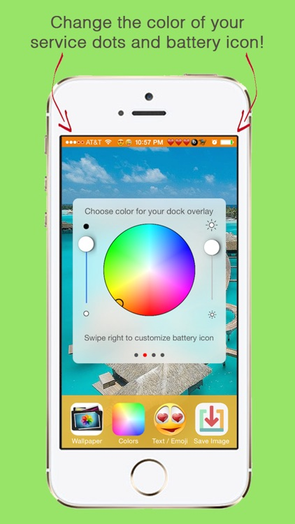 ChroMagic™ Home and Lock Screen Wallpapers with Emoticons and Colorful Top Bars for iPhone and iPad