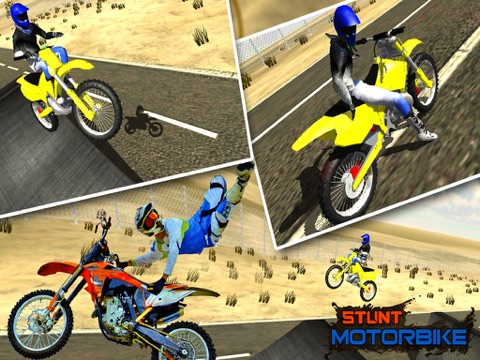 Crazy Motorcycle Stunt Ride simulator 3D – Perform Extreme Driver Stunts with Motor Bike on Dirt-ipad-1