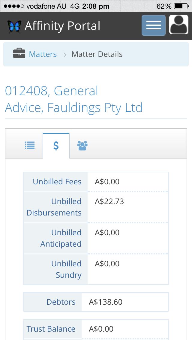 Lexis Affinity Portal screenshot four