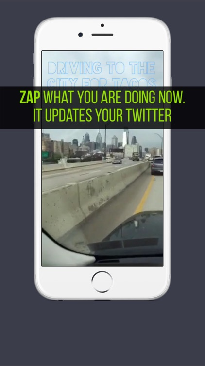 Zap for Twitter: one moment at a time