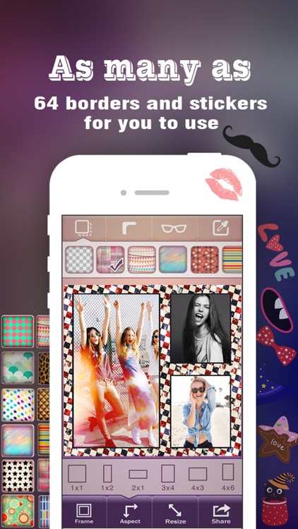 Pic Frame Magic HD - Photo Collage Maker & Grid Creator, add Stamps and Filter Effects