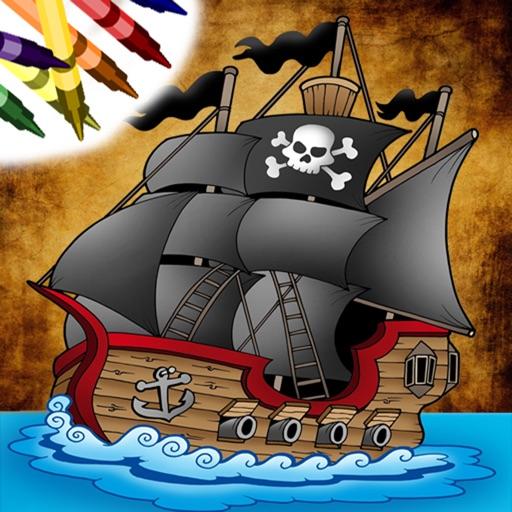 Пиратская Книжка-раскраска!
