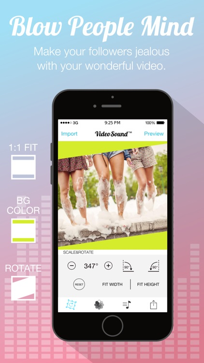 Video Sound Pro for Instagram - Add and Merge 10 Background Musics to Your Recorded Video Clips screenshot-3