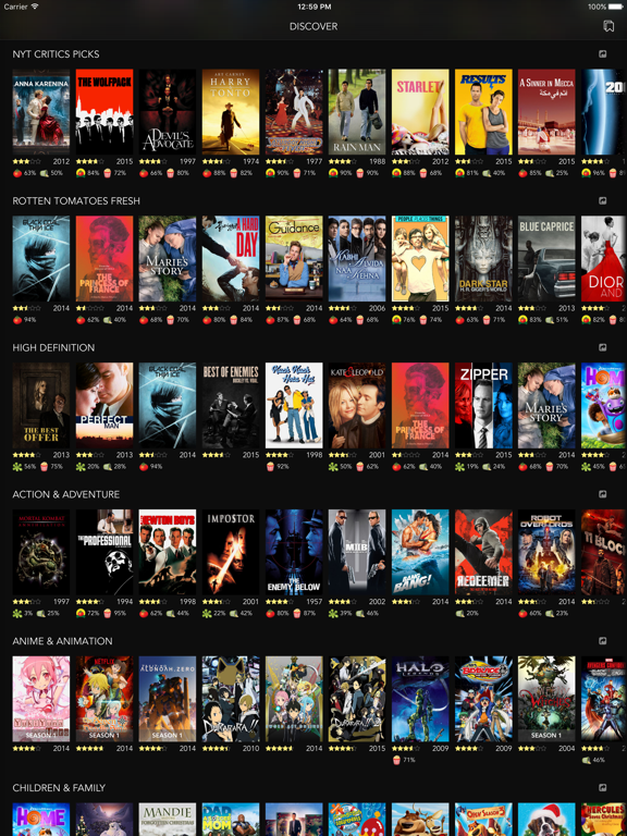 Discover Premium : for Netflix Unlimited with Rotten Tomatoes Ratings and  Queue Pro | App Price Drops