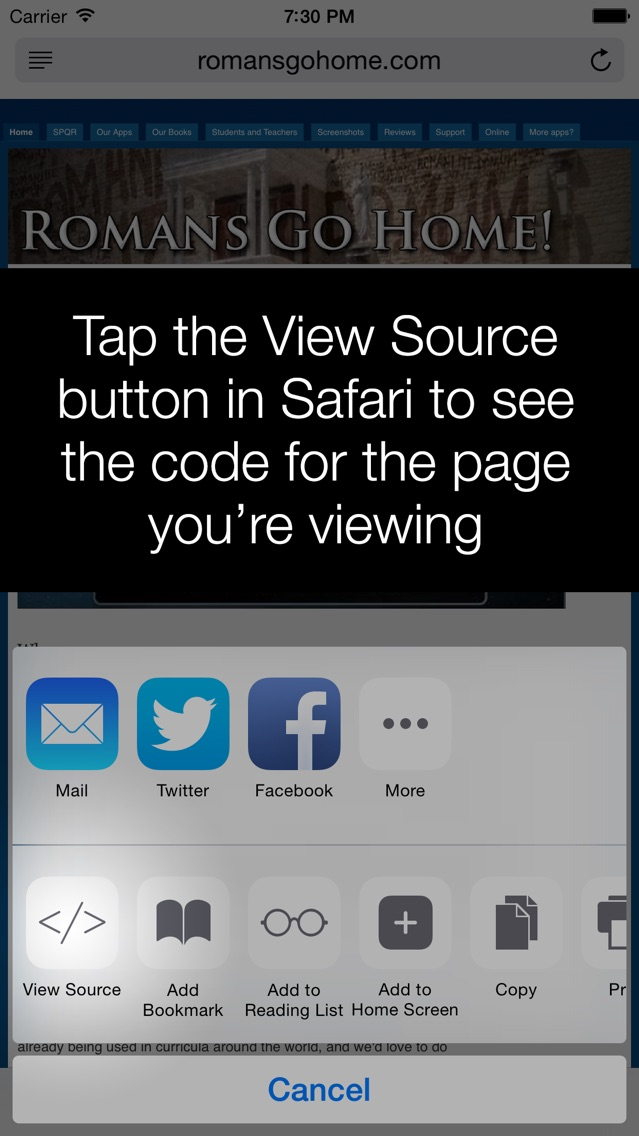 View Source – HTML, J... screenshot1