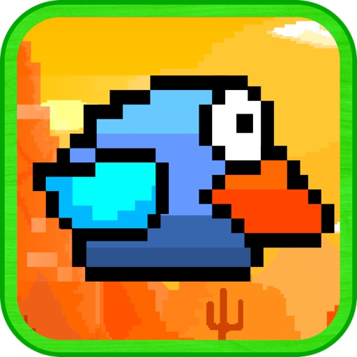 The Fatty Blue Flappy  - Collection of Bird Games
