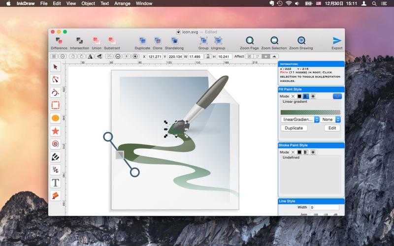 InkDraw - Vector Graphics Editor скриншот программы 4