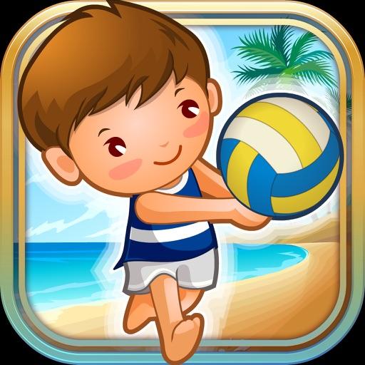 A Volleyball Beach Battle Summer Sport Game