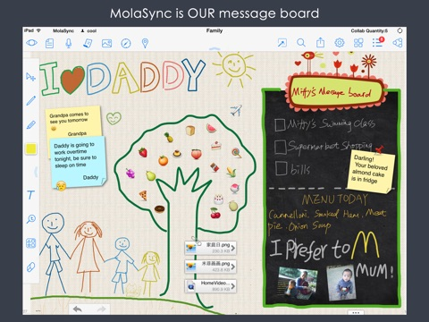 MolaSync - Collaborative cloud notes!  Sound recording, Sharp Drawing, Typing, Chatting and collaboration Screenshot