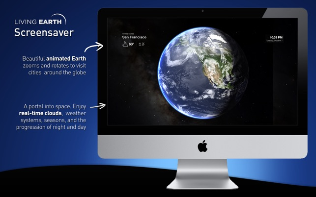 Living Earth Desktop Weather Amp World Clock On The Mac