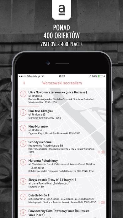 Archimapa - przewodnik po warszawskiej architekturze //  Archimap - mobile guide to the architecture of Warsaw screenshot two