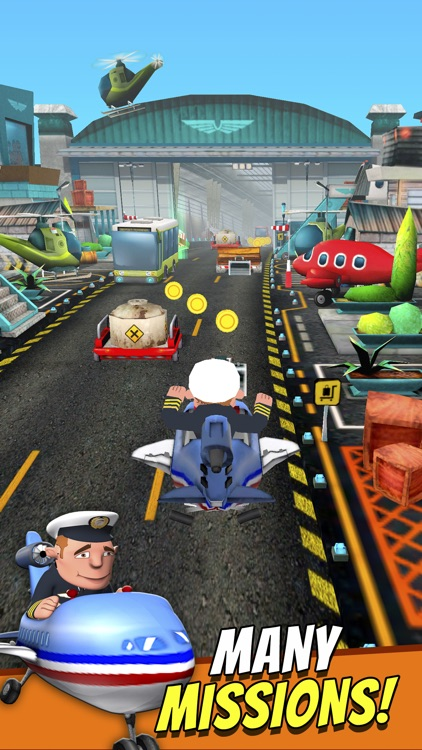 Mini Planes - Free Cartoon Air Craft Runner Game for Kids screenshot-3