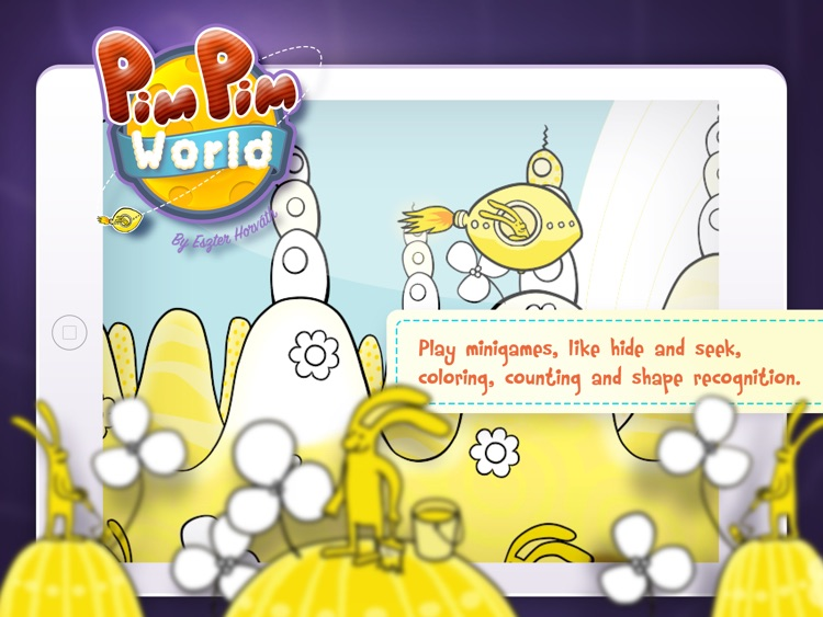 PimPim World: Blue Bunny on the Yellow Big Moon - an interactive storybook for kids screenshot-3