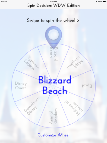 SpinDecision - Disney World Theme Park Edition screenshot