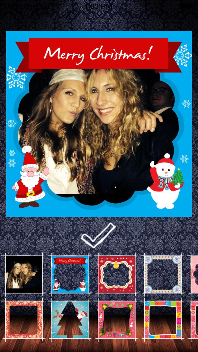 Frame My Photo: メリークリスマスのためのデジタルフォトフレームやグリーティングカードのおすすめ画像1