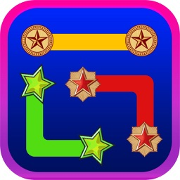 A Puzzle Game to Match  & Connect - Draw Line  between Same Pairs of Star