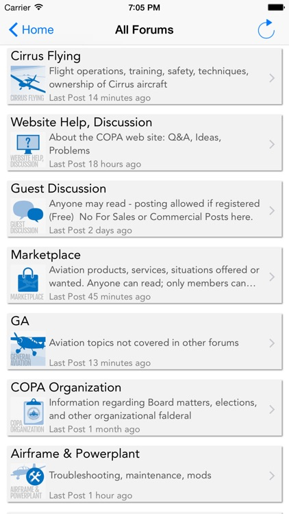 Cirrus Owners and Pilots Association (COPA) Forum Reader