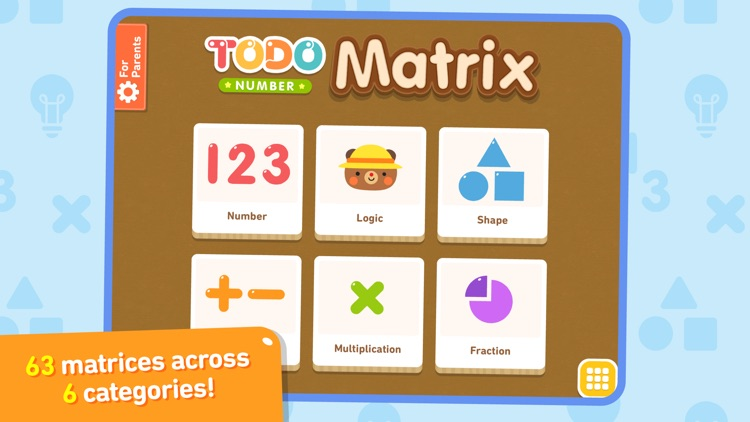 Todo Number Matrix: Brain teasers, logic puzzles, and mathematical reasoning for kids screenshot-0