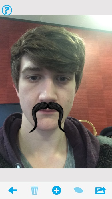 Screenshot #2 for MoTuner Photo Editor - Fast way to superimpose a mustache to your face!