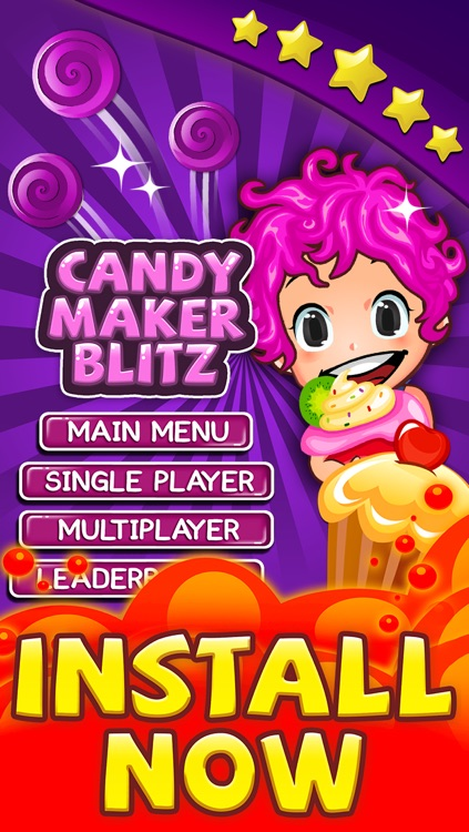 Candy Game - Match 3 Candies Puzzle For Children HD FREE screenshot-4