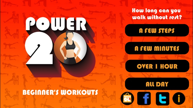 20 Minute Beginners Workout Free by Power 20 screenshot-1