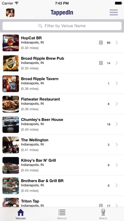 TappedIn - Socially curated beer menus